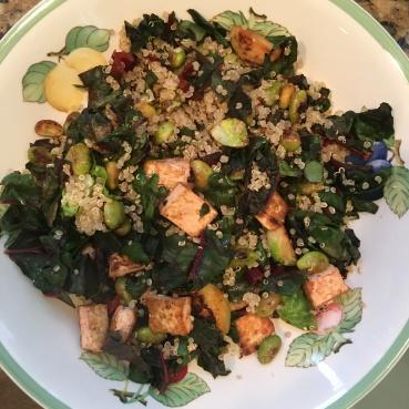 quinoa, greens and tofu